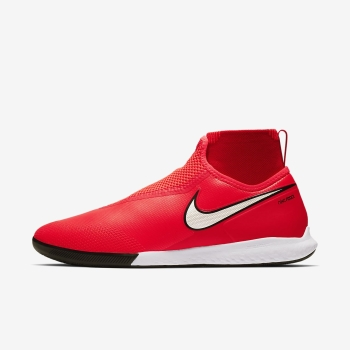 Chuteiras Indoor Nike React PhantomVSN Pro Dynamic Fit Game Over IC Masculino Luz Vermelhas/Metal Pr