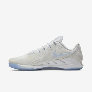 Sapatilhas Tenis Nike Court Air Zoom Vapor X Knit DS Masculino Branco/Platina | Pt-18893