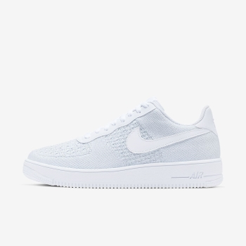 Tenis Nike Air Force 1 Flyknit 2.0 Masculino Branco/Platina | Pt-47729