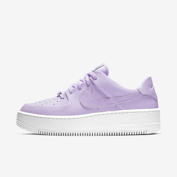 Tenis Nike Air Force 1 Sage Low Feminino Roxo/Branco | Pt-57310