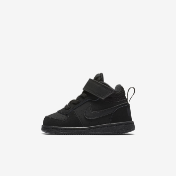 Tenis Nike Court Borough Mid Bebe Pretas | Pt-85691